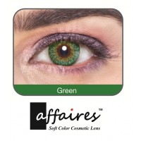 Affaires COLOR Yearly CONTACT LENSES Three Tone (1 Lens Pack) (Green) / A-Green-3Tone(1pcs)-00