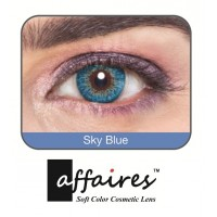 Affaires COLOR Yearly CONTACT LENSES Three Tone (1 Lens Pack) (Sky Blue) / A-Sky-Blue-3Tone(1pcs)-00