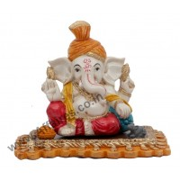 Affaires Ideal Gift - Beautiful Ganesha, Ganesh, Ganpati Murti Idol Statue Sculpture for car /office Decor, Ideal Gift to Your Loved Ones G-401