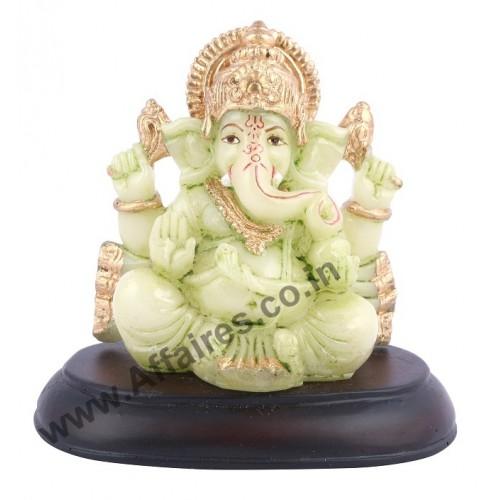 Affaires Radium Glow Ganeshji Ganesh Ganpati Murti Idol Statue